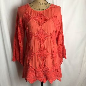 Free People Patchwork Pullover Top
